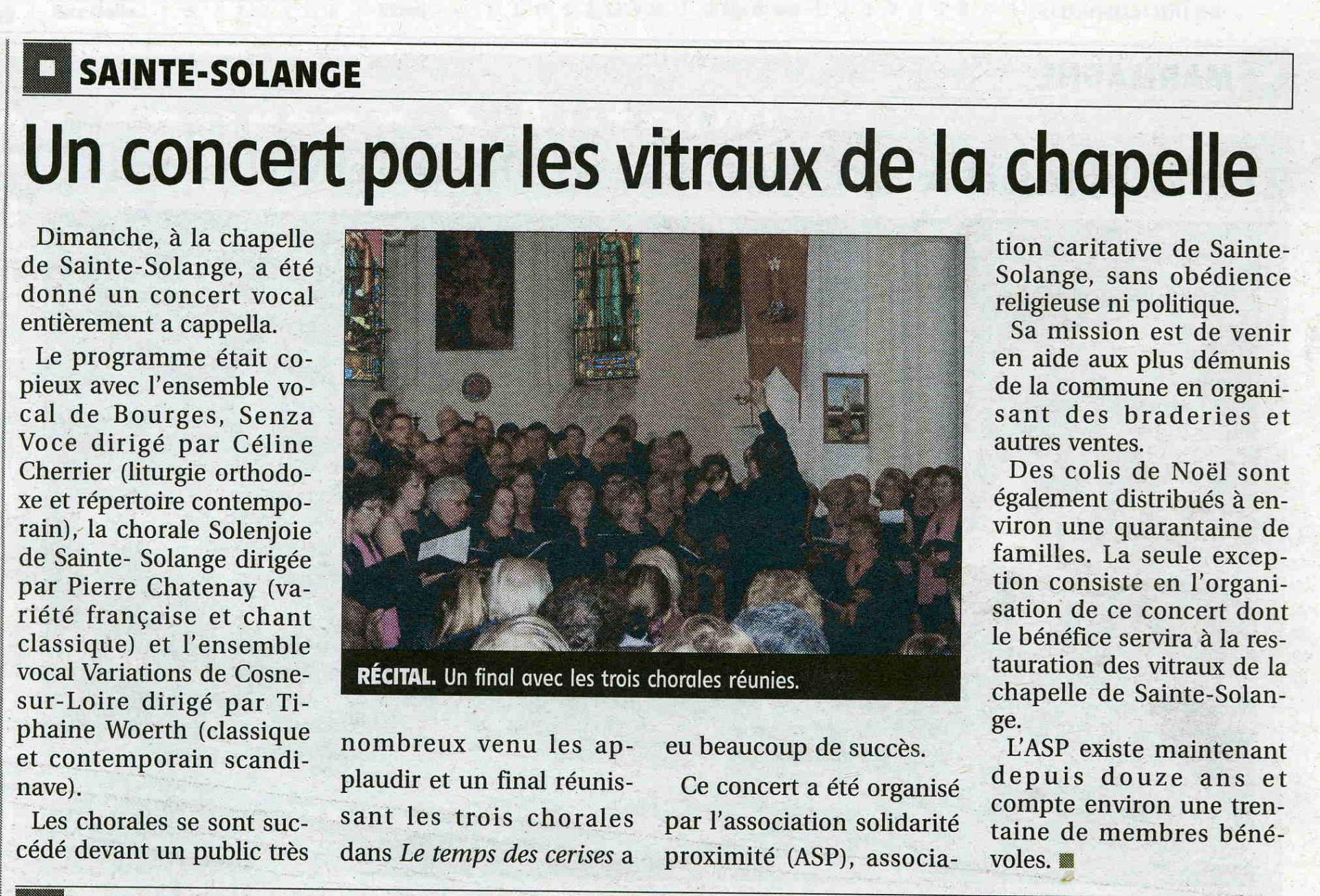 Concert Sainte Solange 2011