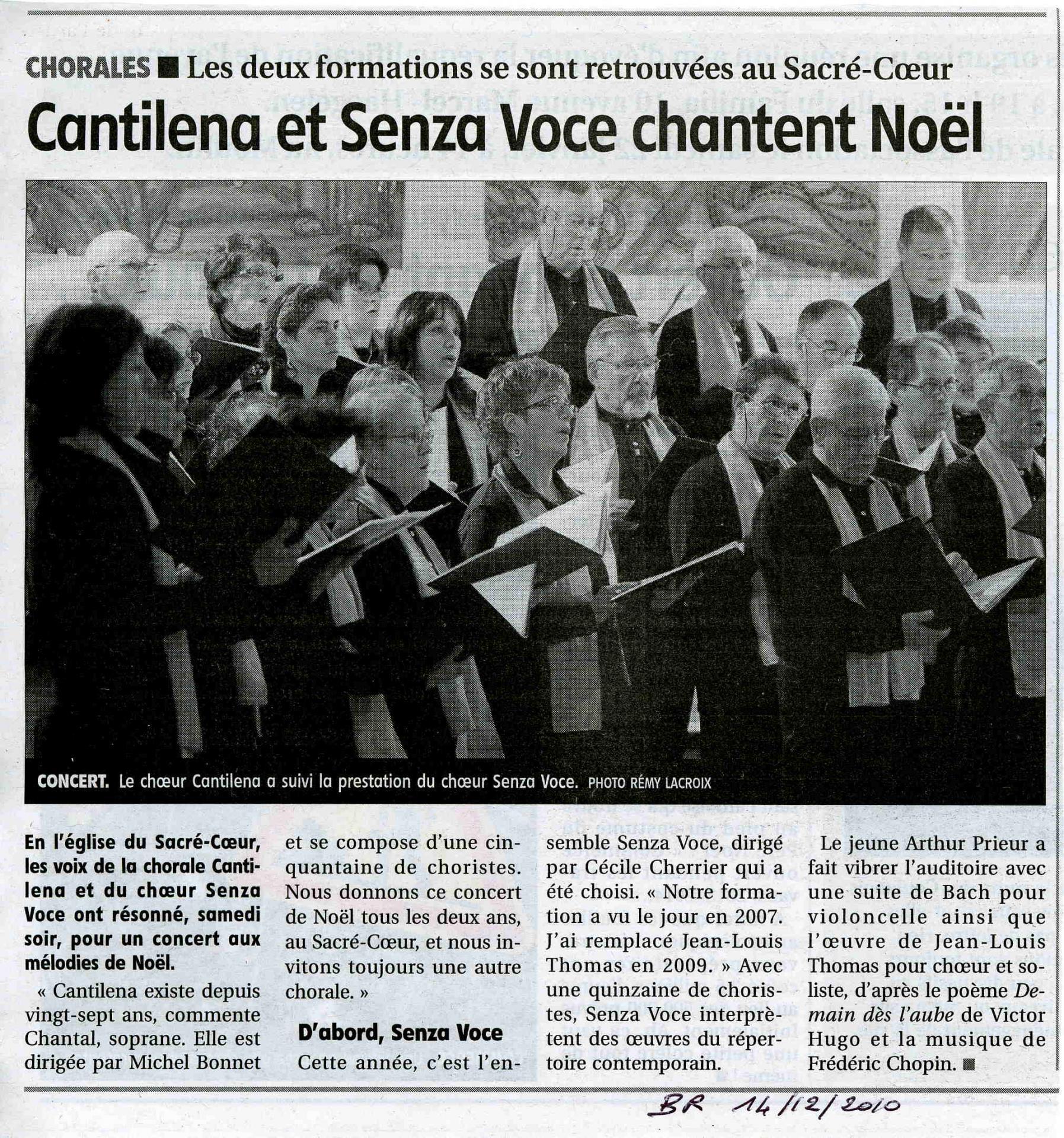 Concert de Noel avec Cantilena 2010